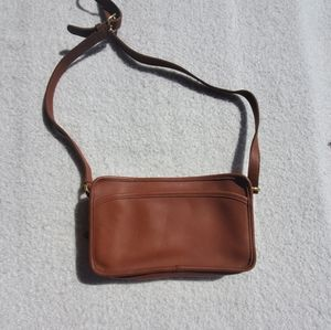 Vintage Coach Brown Leather Crossbody Purse Bag